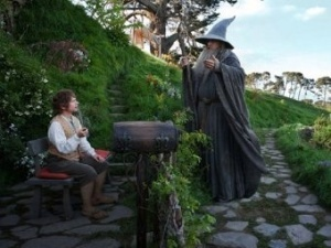 Gandalf and Bilbo from The Hobbit: An Unexpected Journey Photo Credit: LOTR Wikia