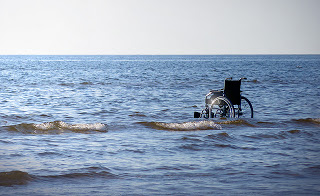 WheelchairInOcean