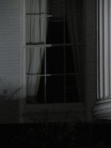The spooky window of the Follett House where apparitions have been seen lurking.