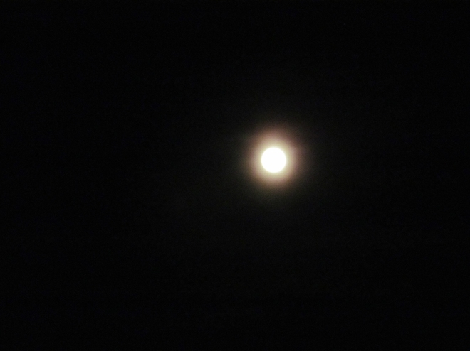 The full moon during the Ghost Walk.
